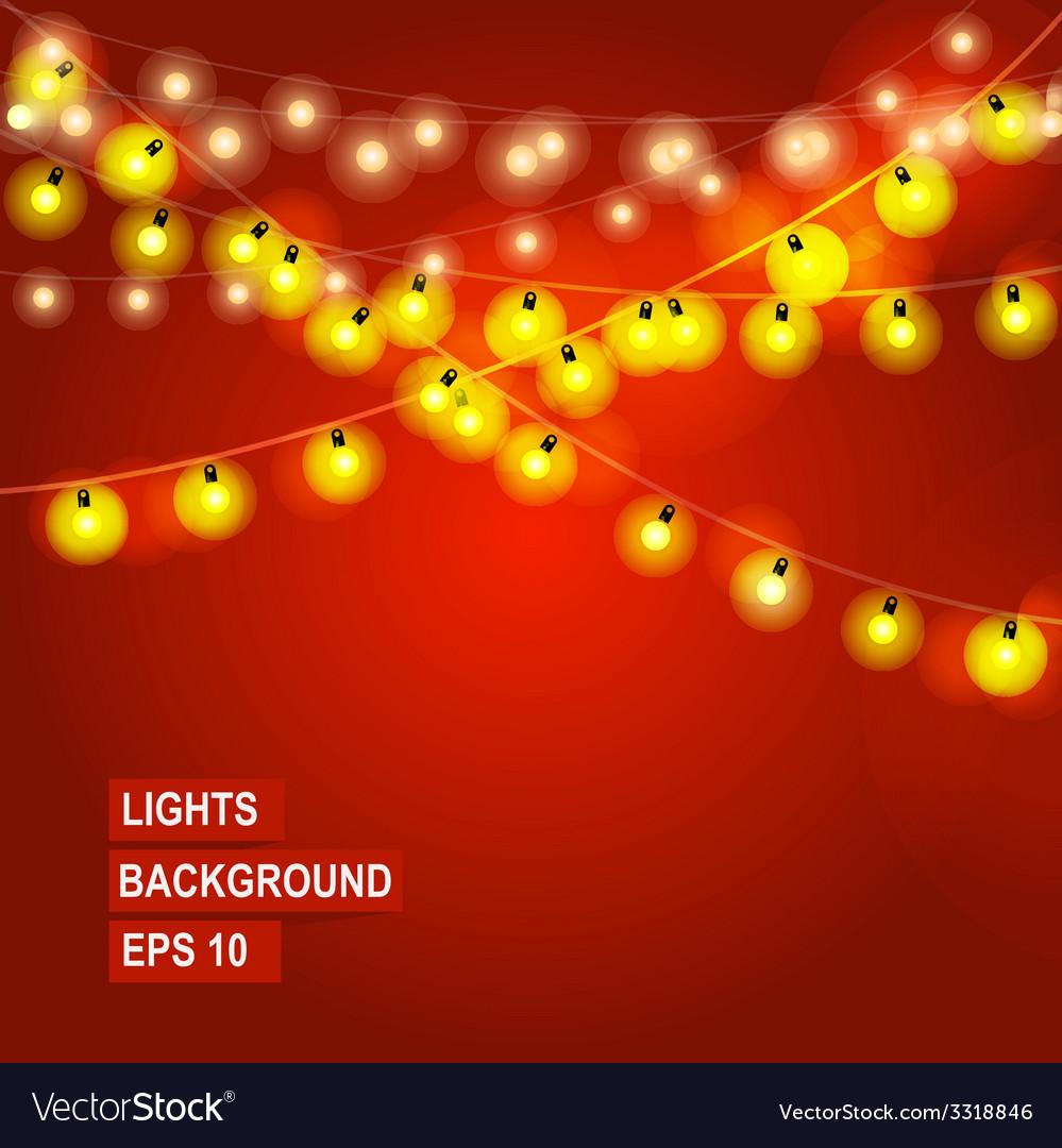 Bokeh garland lights