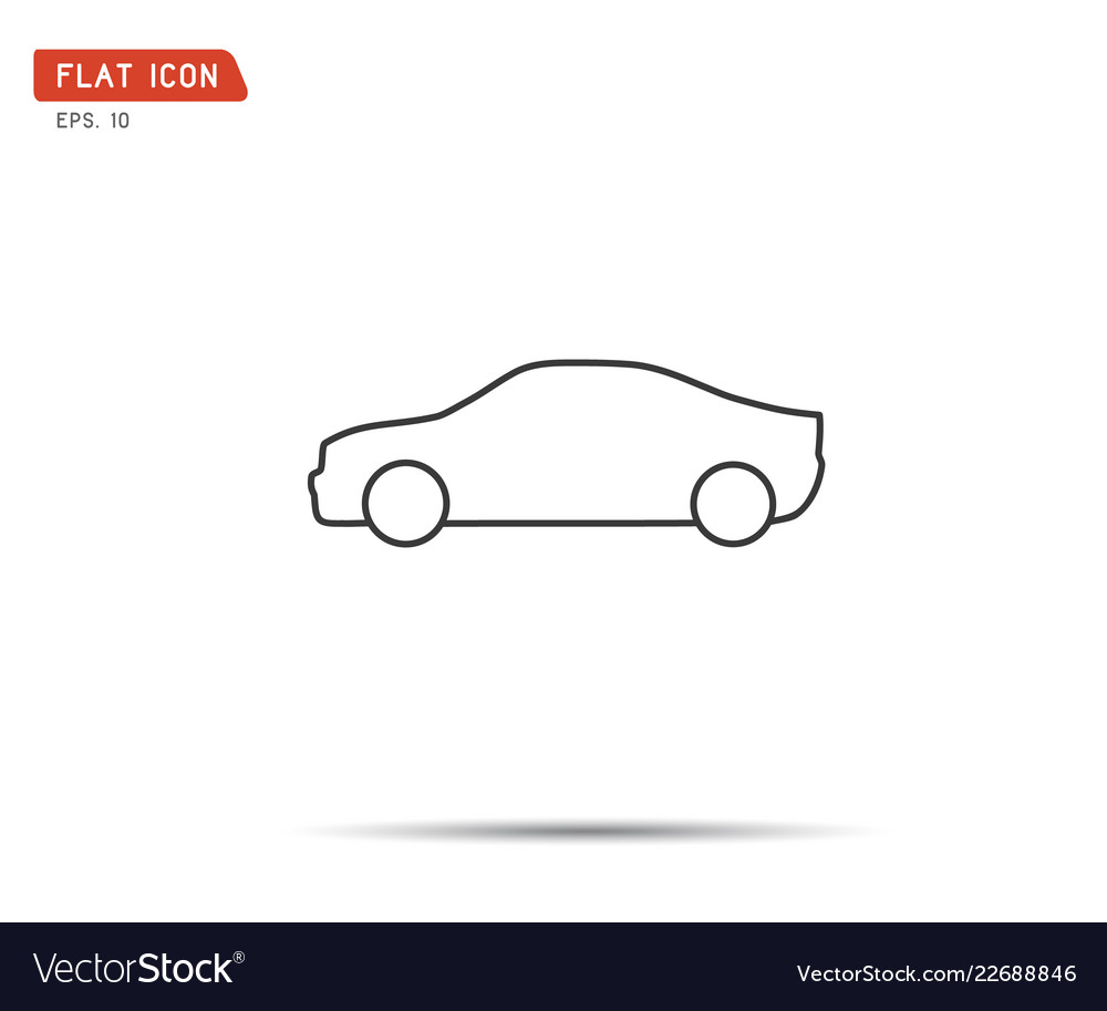 Car icon flat logo