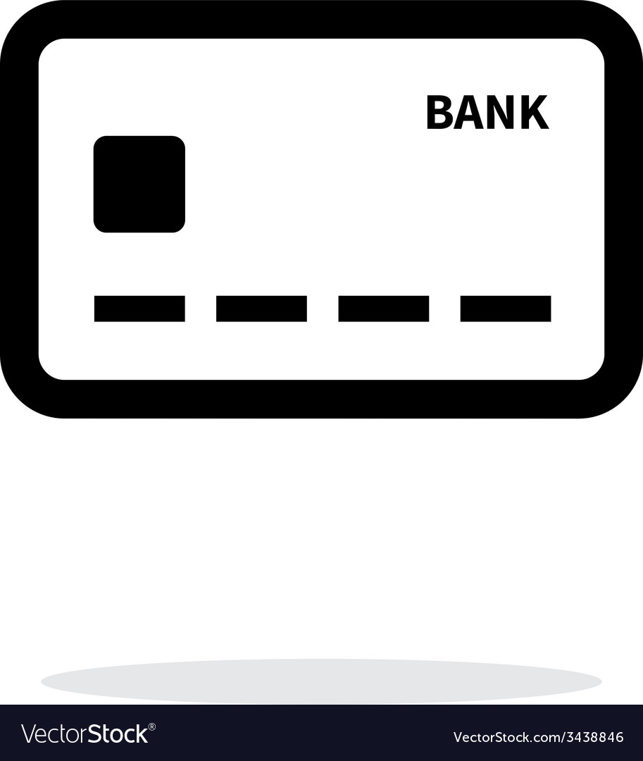 Debit card icon on white background