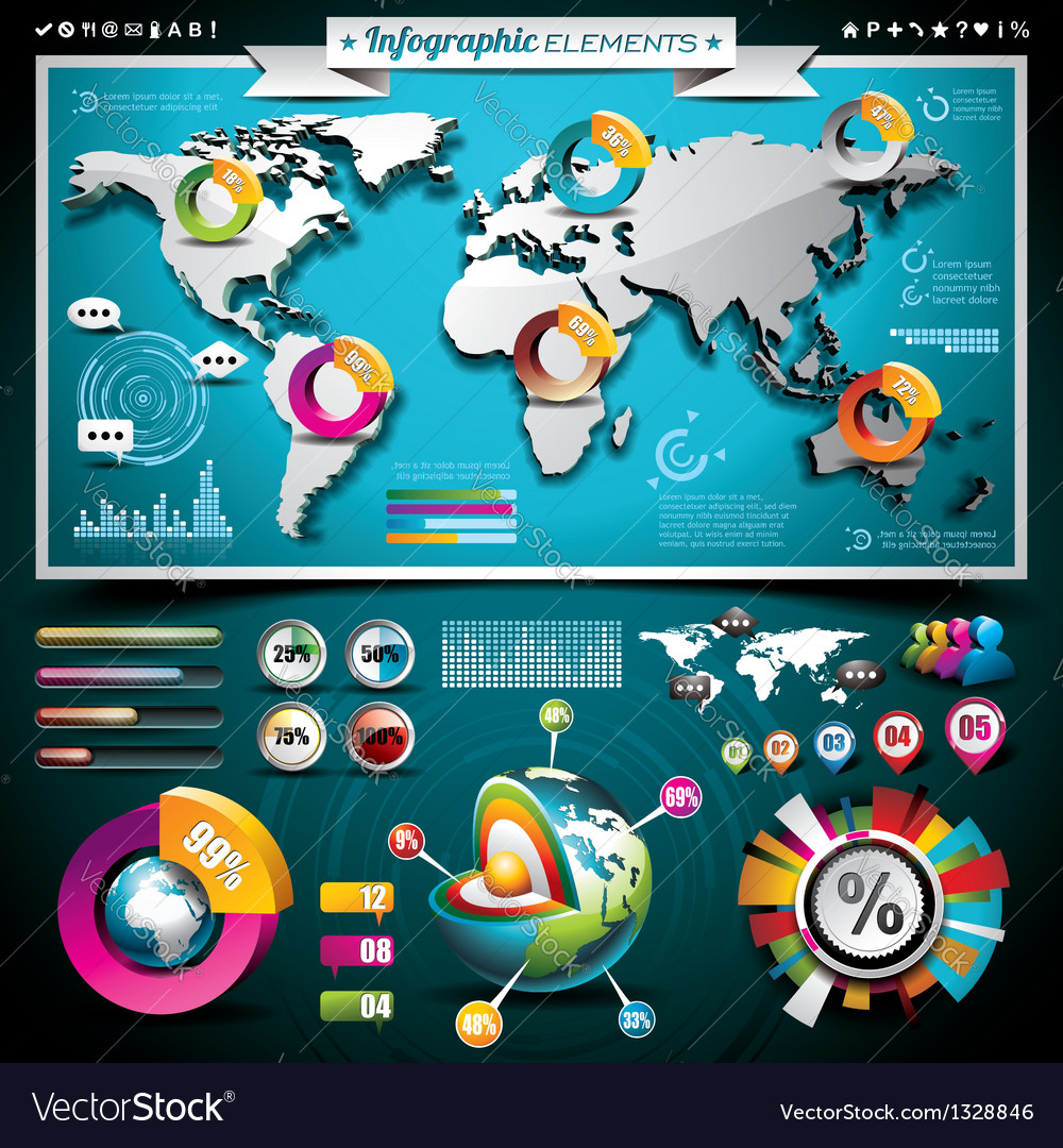 Design set of infographic elements