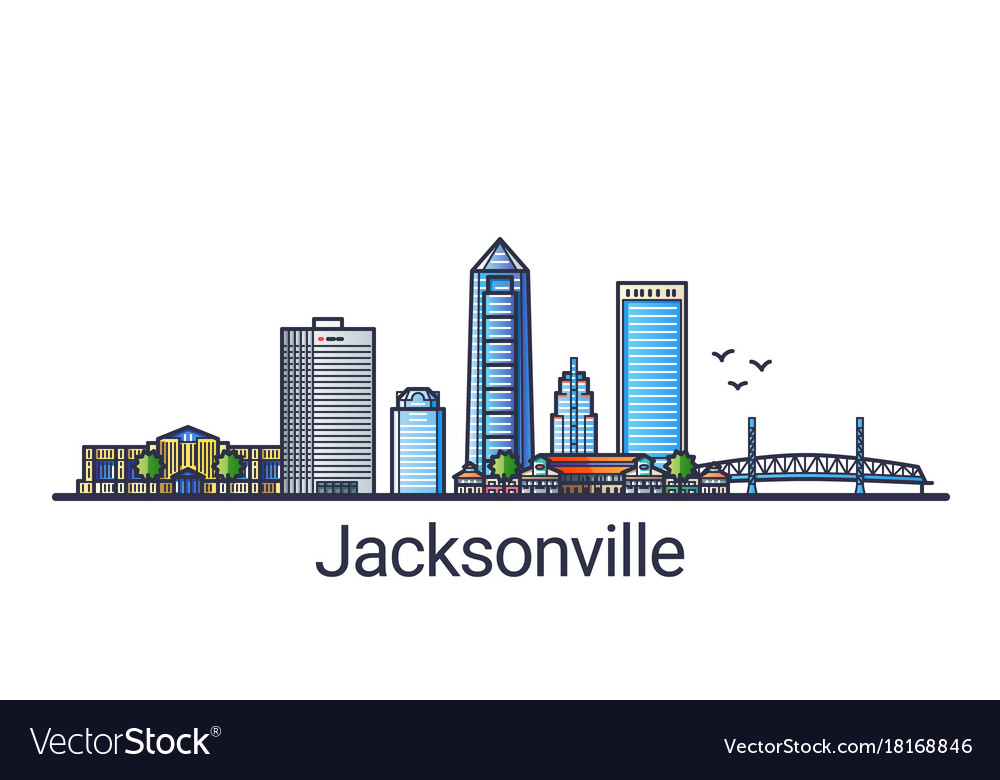 Flat line jacksonville banner