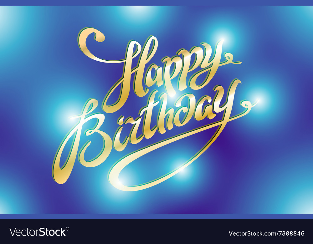 Happy Birthday Retro With Lights In Background Vector Image