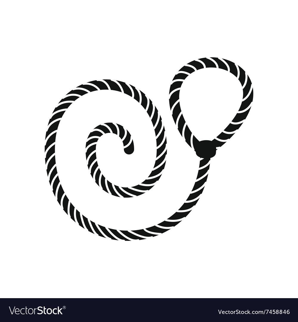 Lasso black simple icon