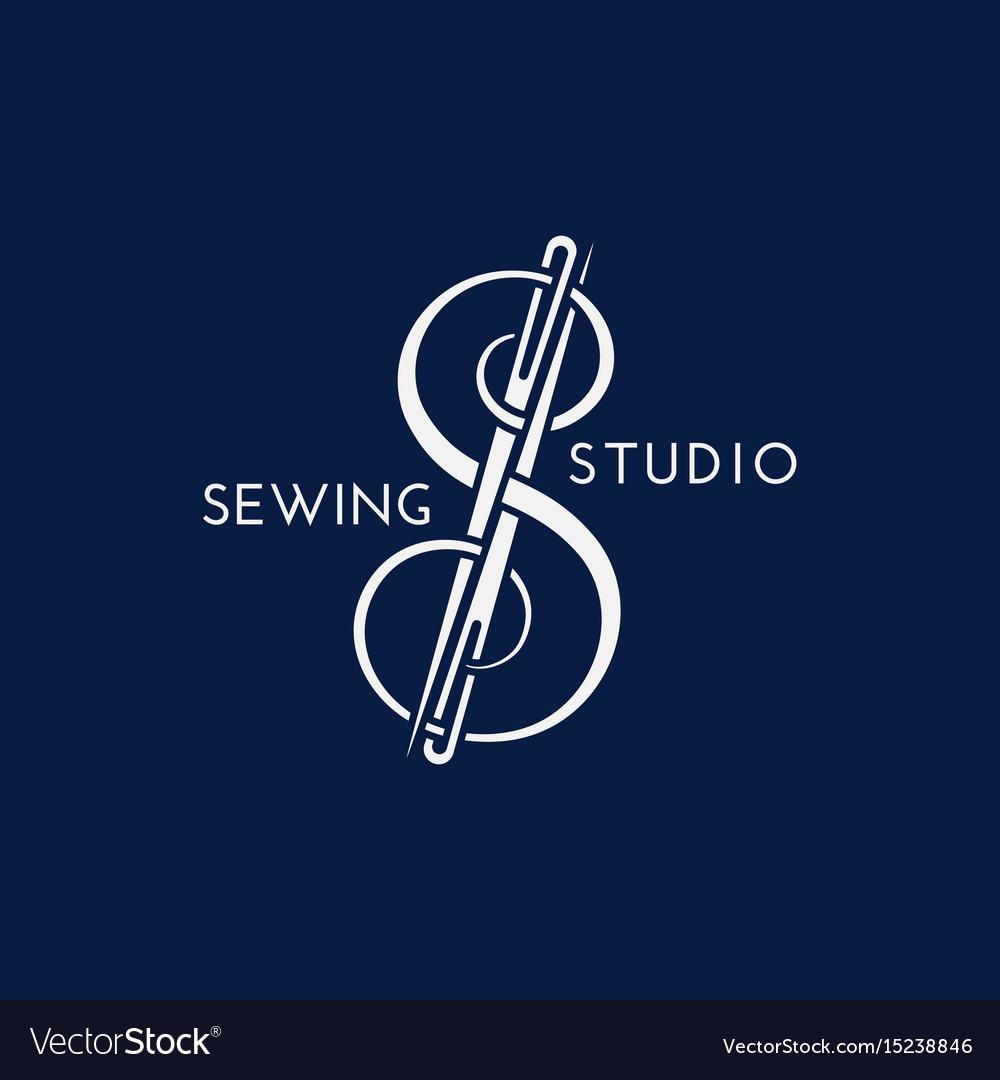 Sewing Studio Logo Royalty Free Vector Image Vectorstock
