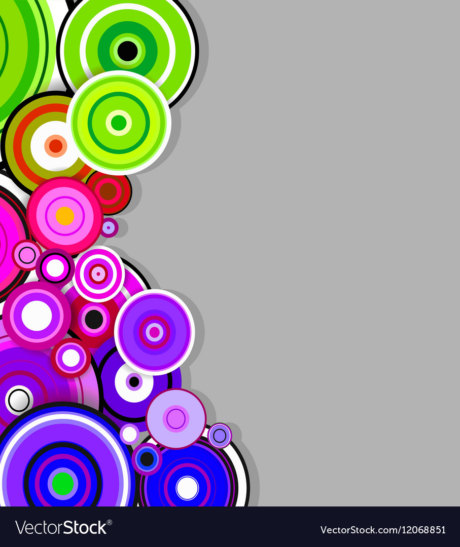 Abstract colorful rings background