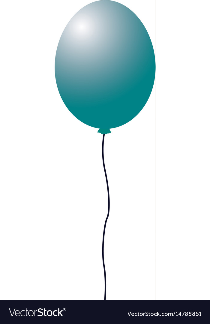 Balloon decoration party element design vector image