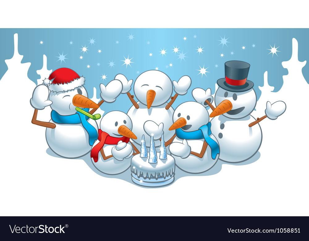 Birthday snowmen
