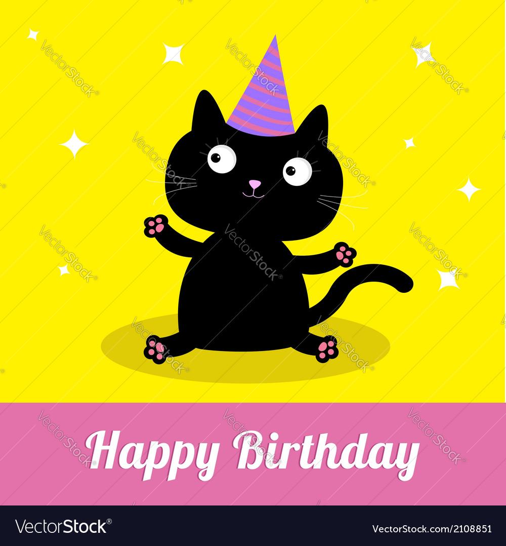 Открытки с днем рождения с черными котами, папа картинки