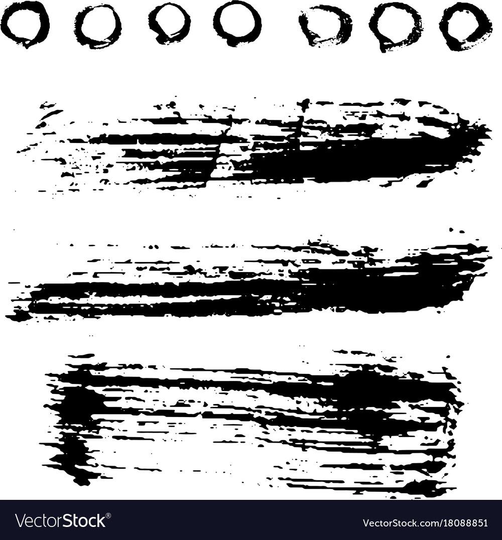 Different grunge brush strokes ink art texture