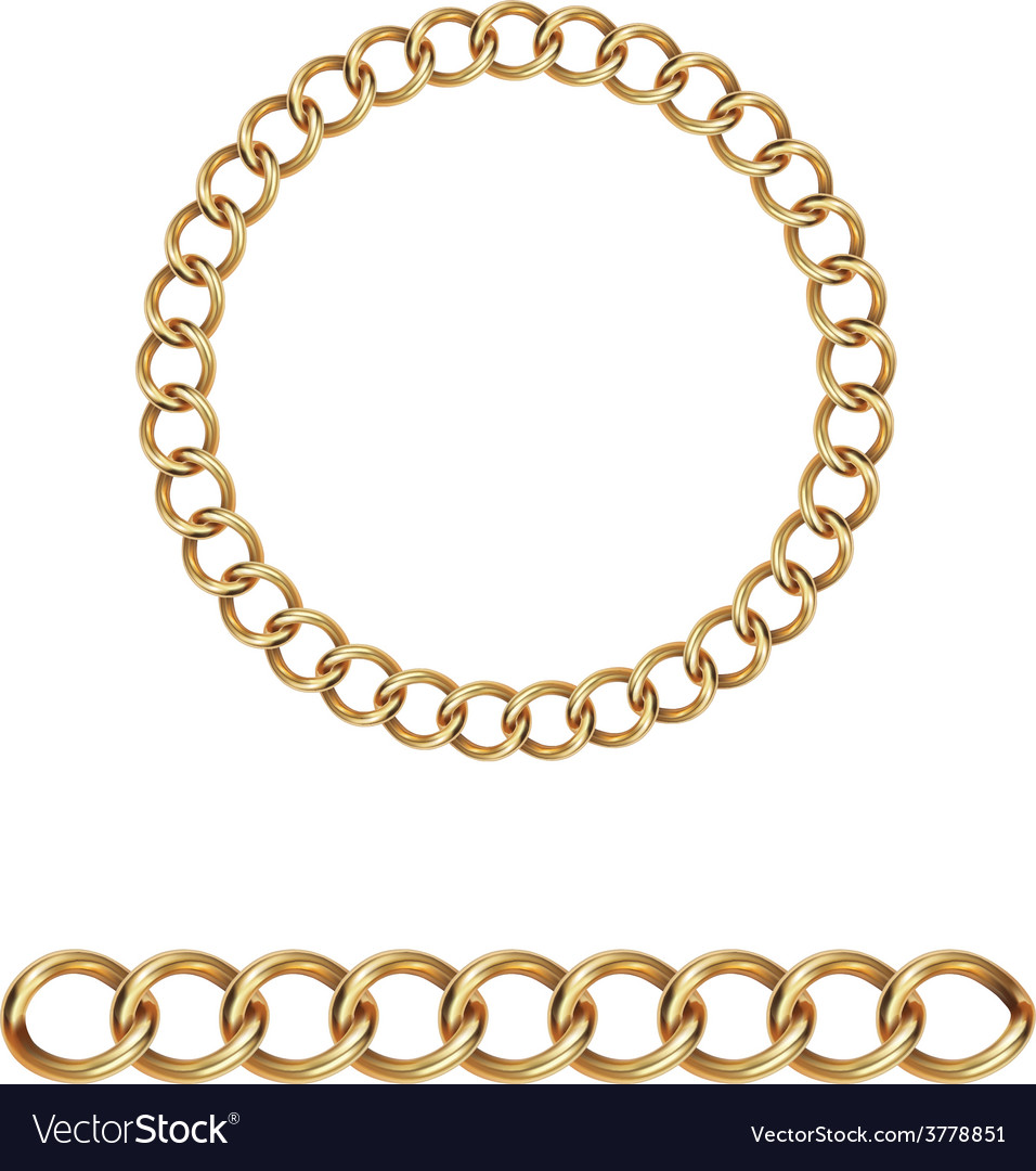 Gold chain Royalty Free Vector Image - VectorStock  Chain Vector