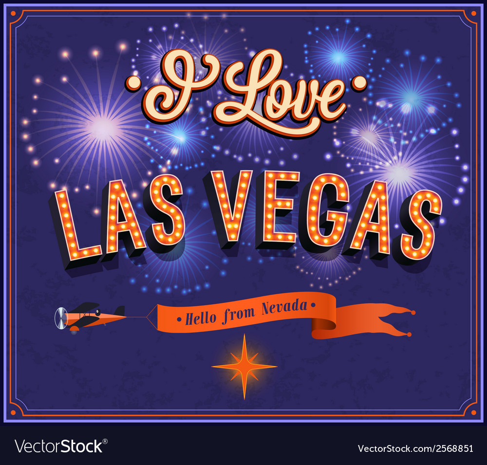 Greeting card from las vegas nevada royalty free vector greeting card from las vegas nevada vector image m4hsunfo