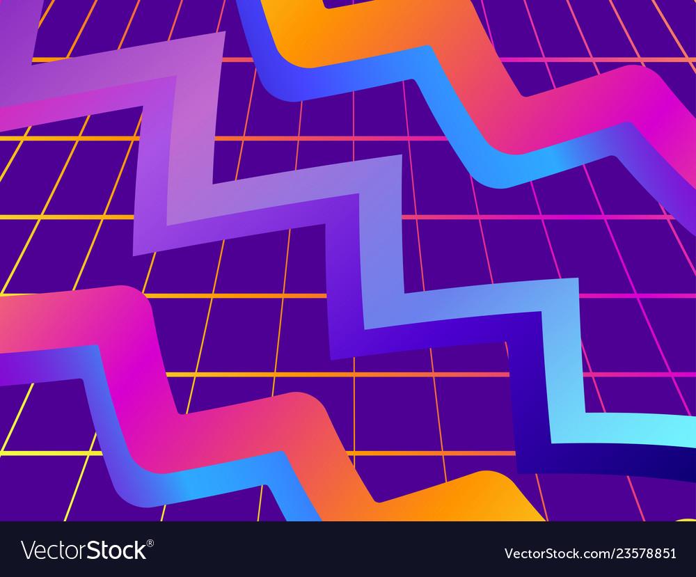 Retro futurism background modern trend gradient