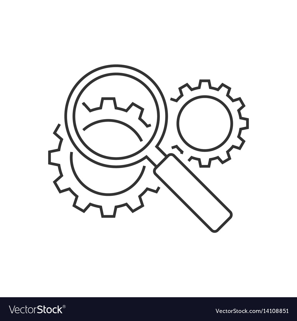 Search engine optimization line icon