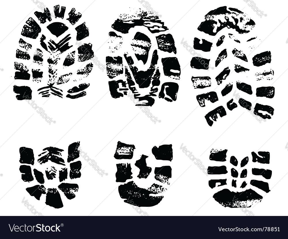 Set of black crosses stamps