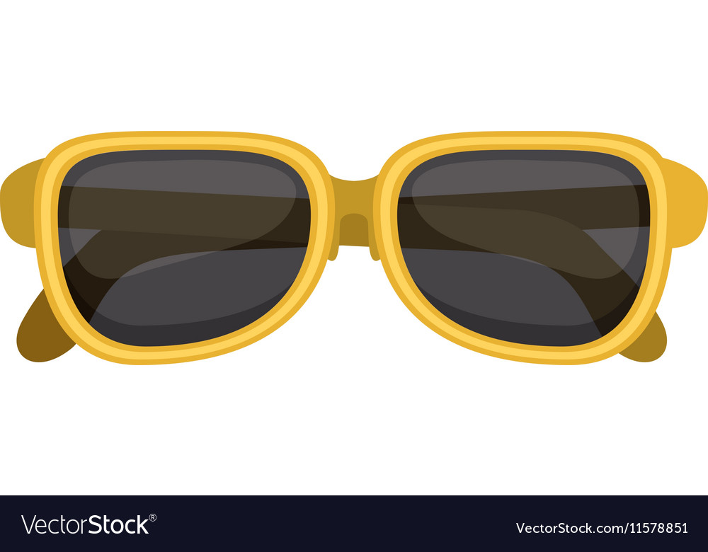 Silhouette sunglasses with yellow frame vector image