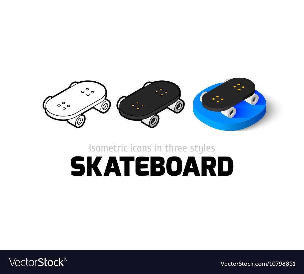 Skateboard icon in different style