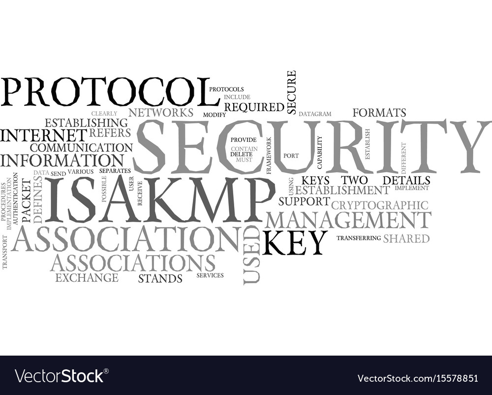 What is isakmp text word cloud concept
