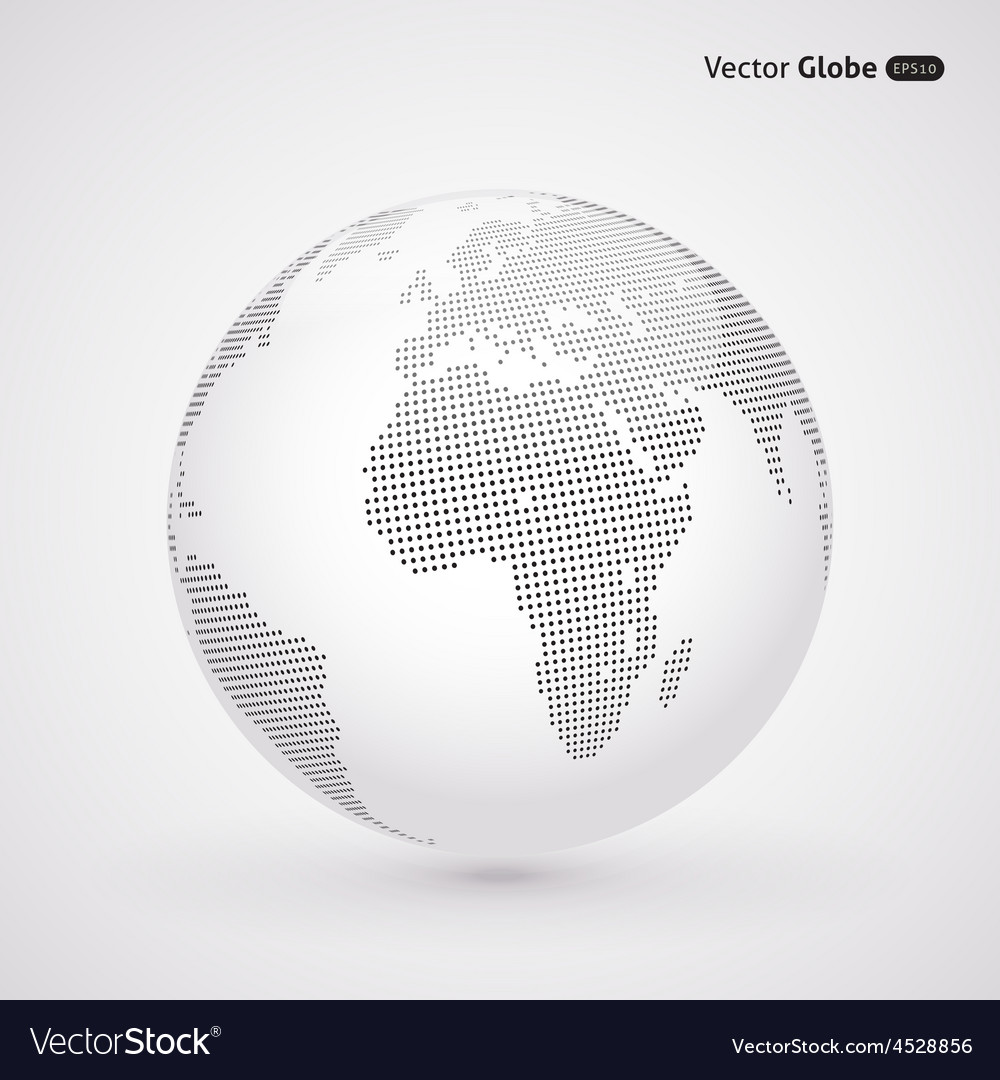 Abstract dotted globe Central views of Africa