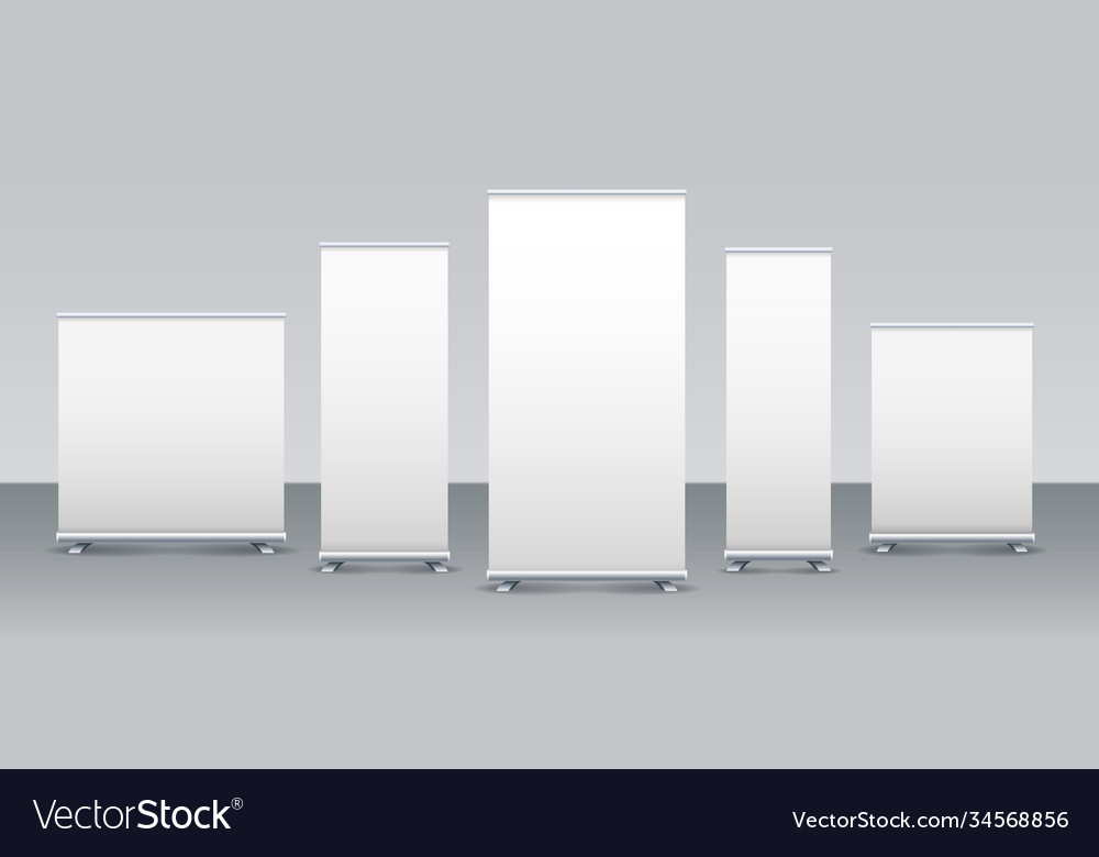 Empty rollup banners set