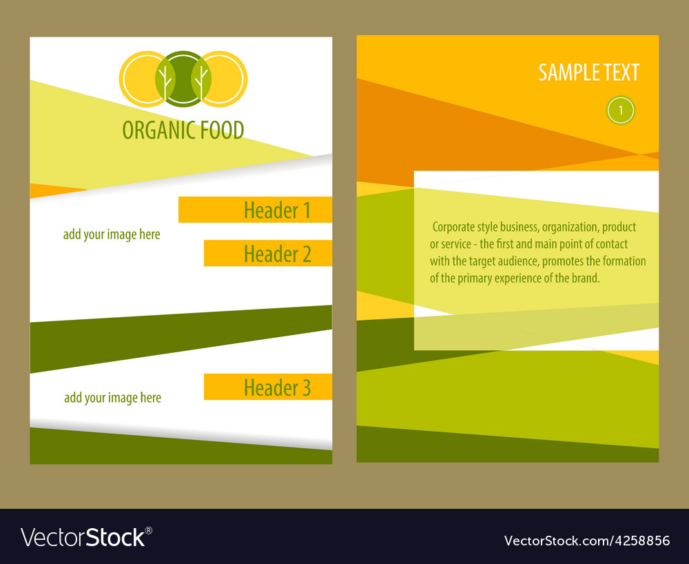 organic food template flyer royalty free vector image