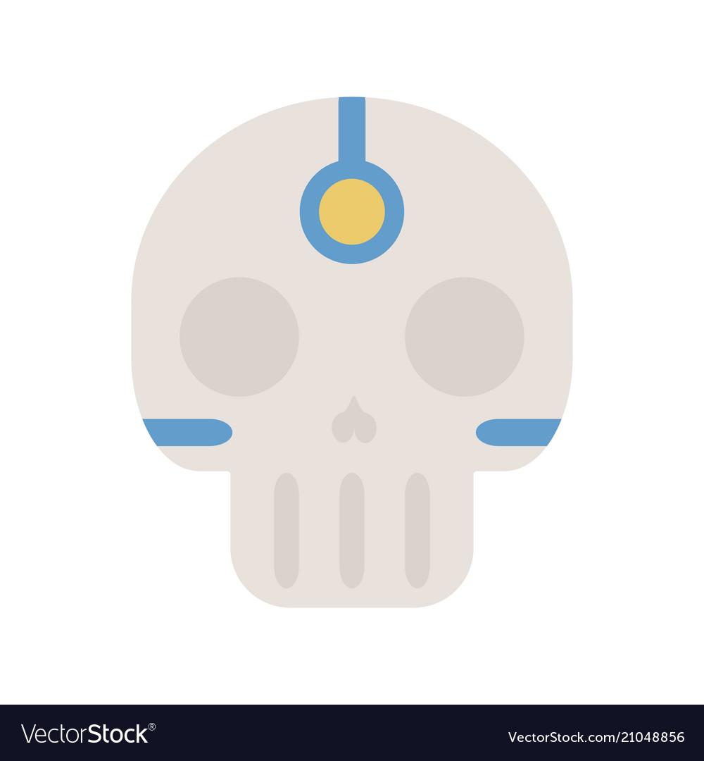 Tribal ethnic skull bone native american indian vector image