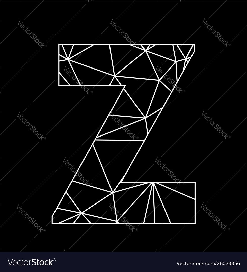 Z geometric triangle block chain font