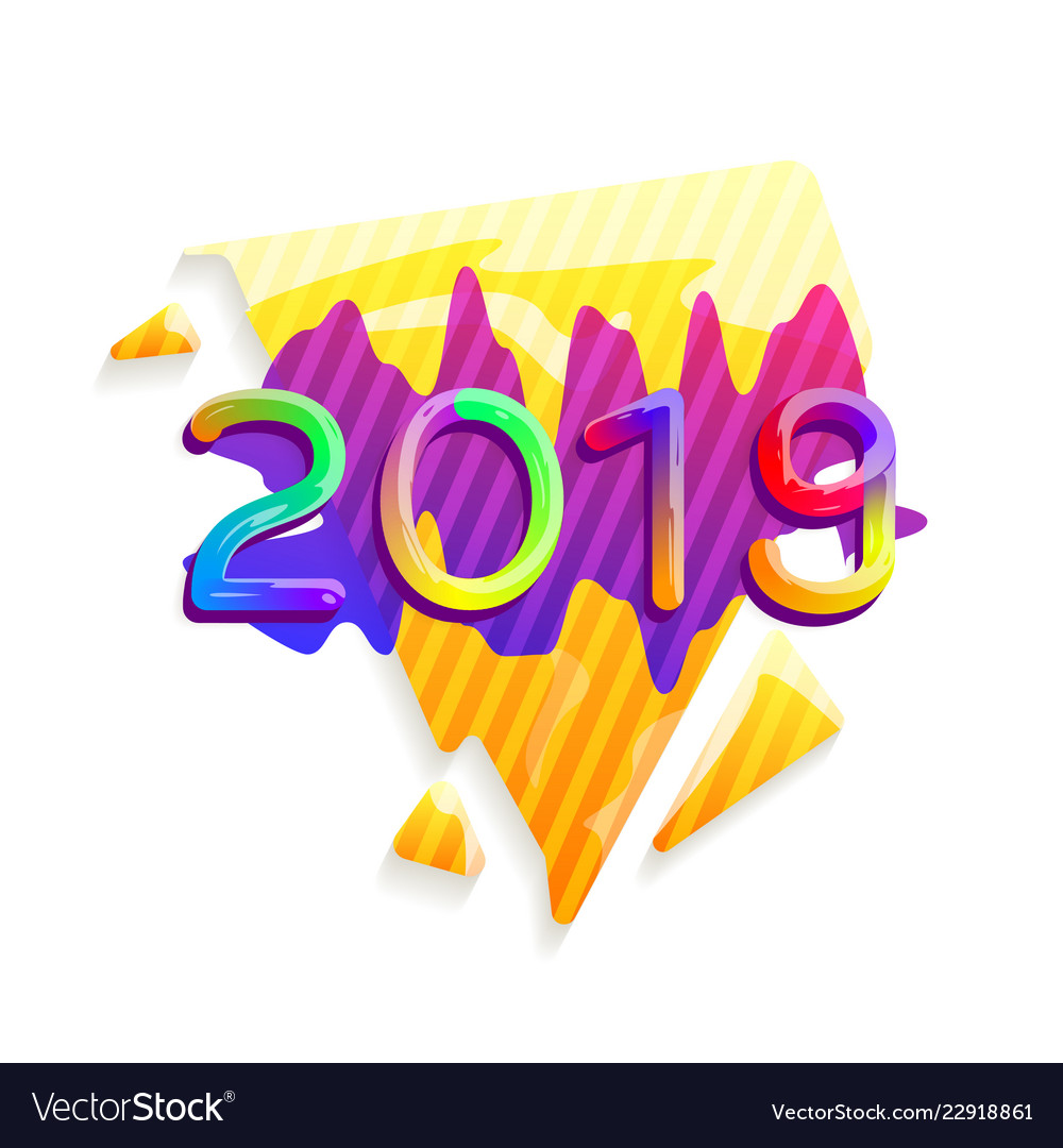 2019 new year abstract festive background
