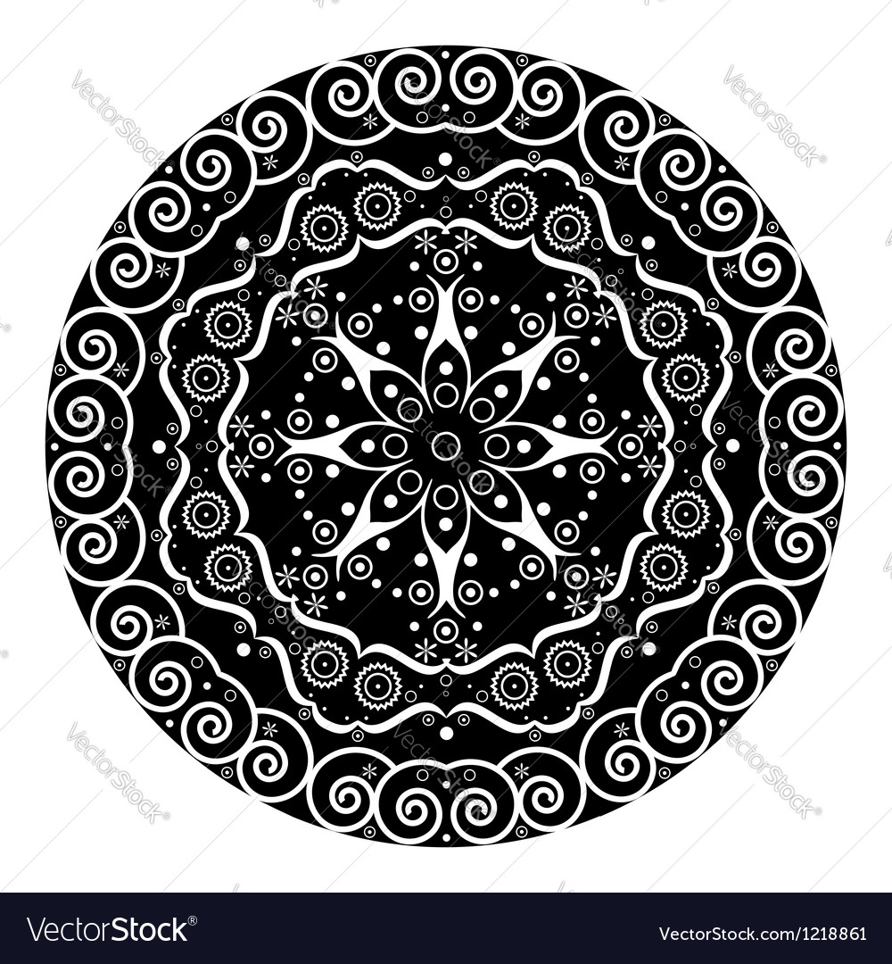 Abstract ethnic symbol vector image