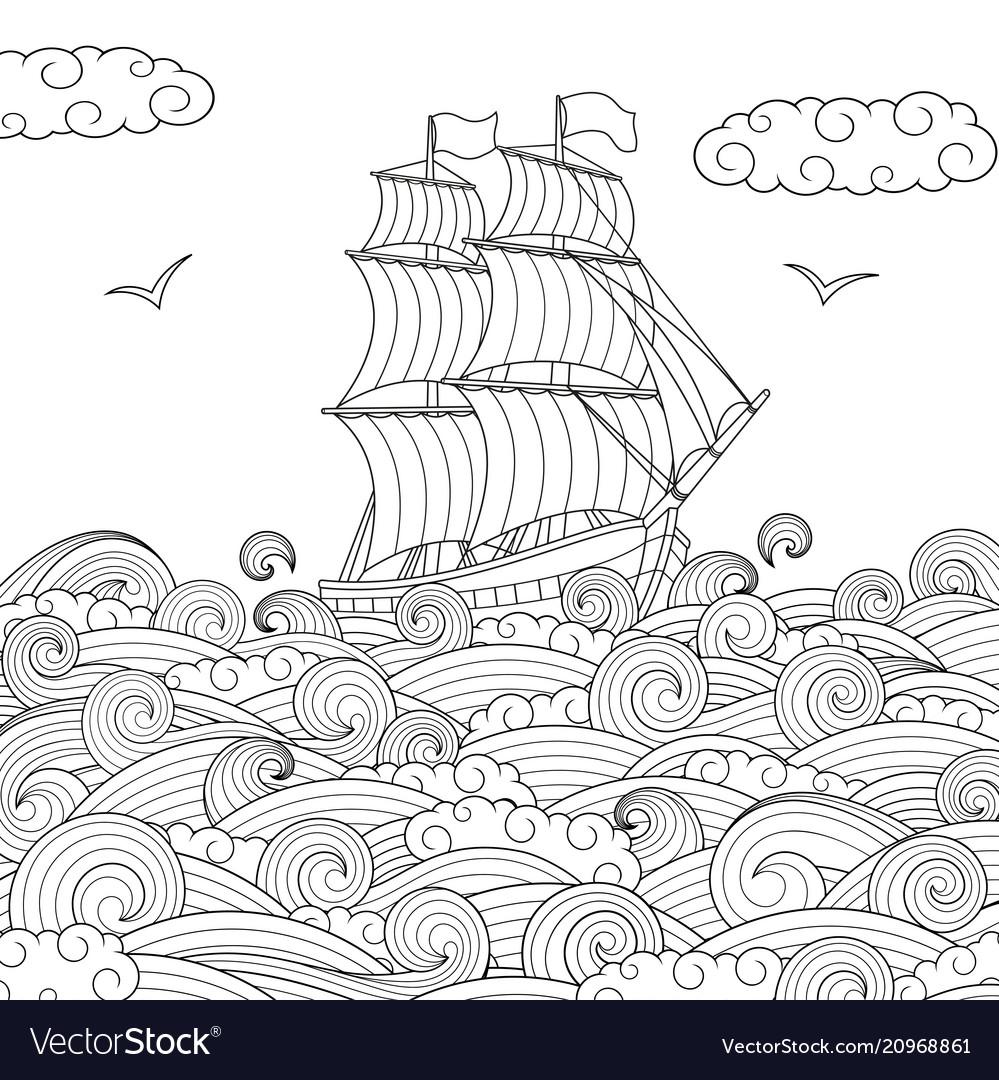 Children sailing ship