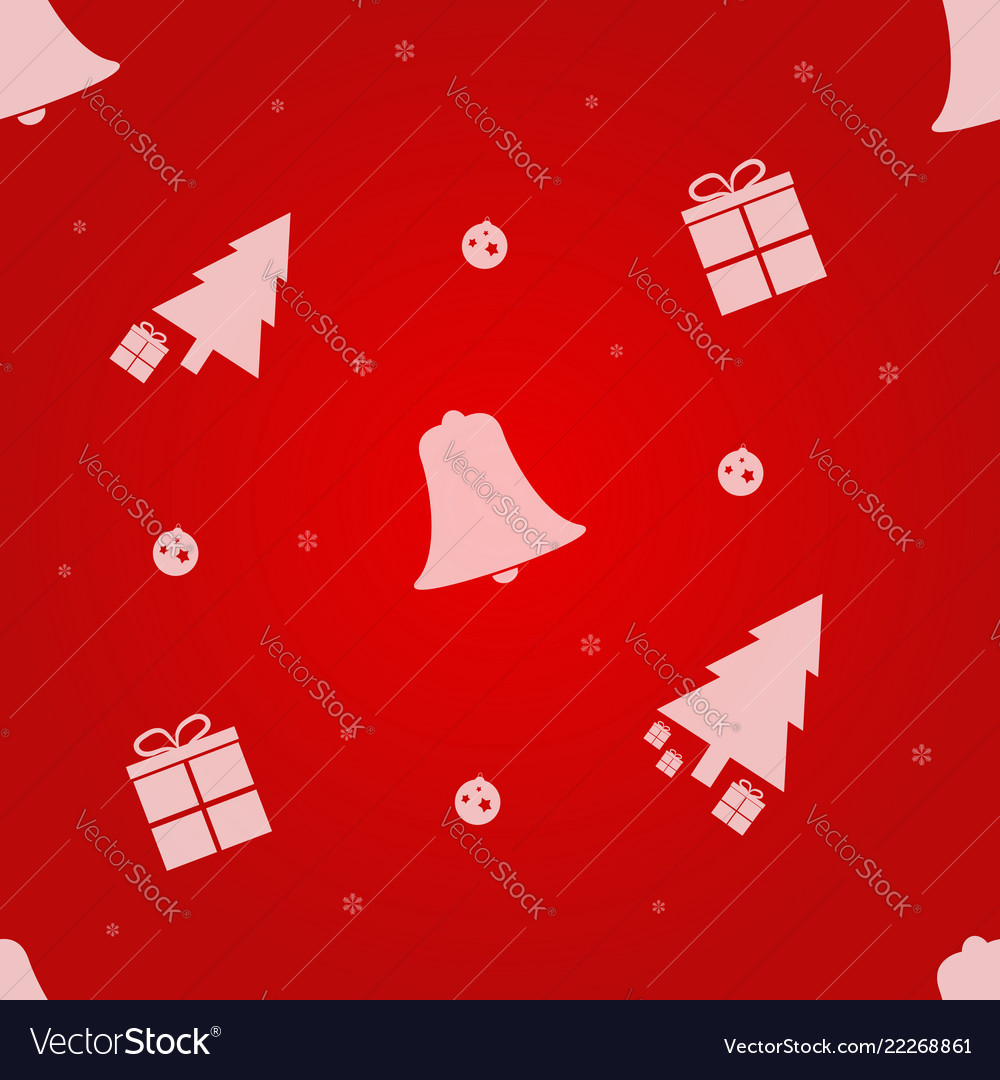 Christmas seamless pattern with christmas tree