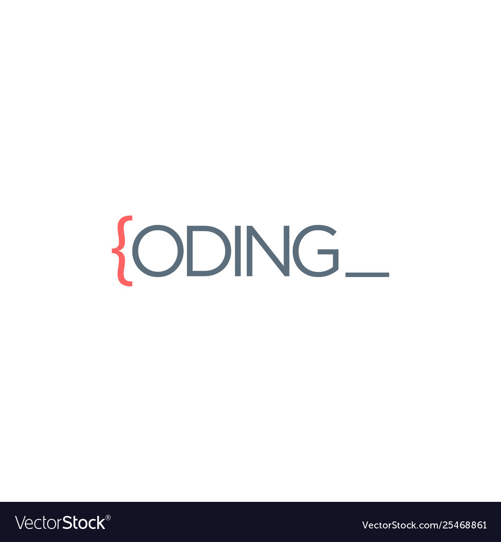 code programmer logo design icon element vector image code programmer logo design icon element vector image