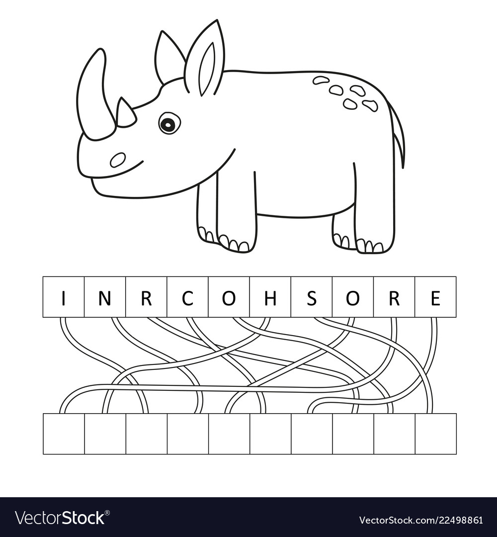 Free Printable Rhinoceros Coloring Pages For Kids | 1080x1000