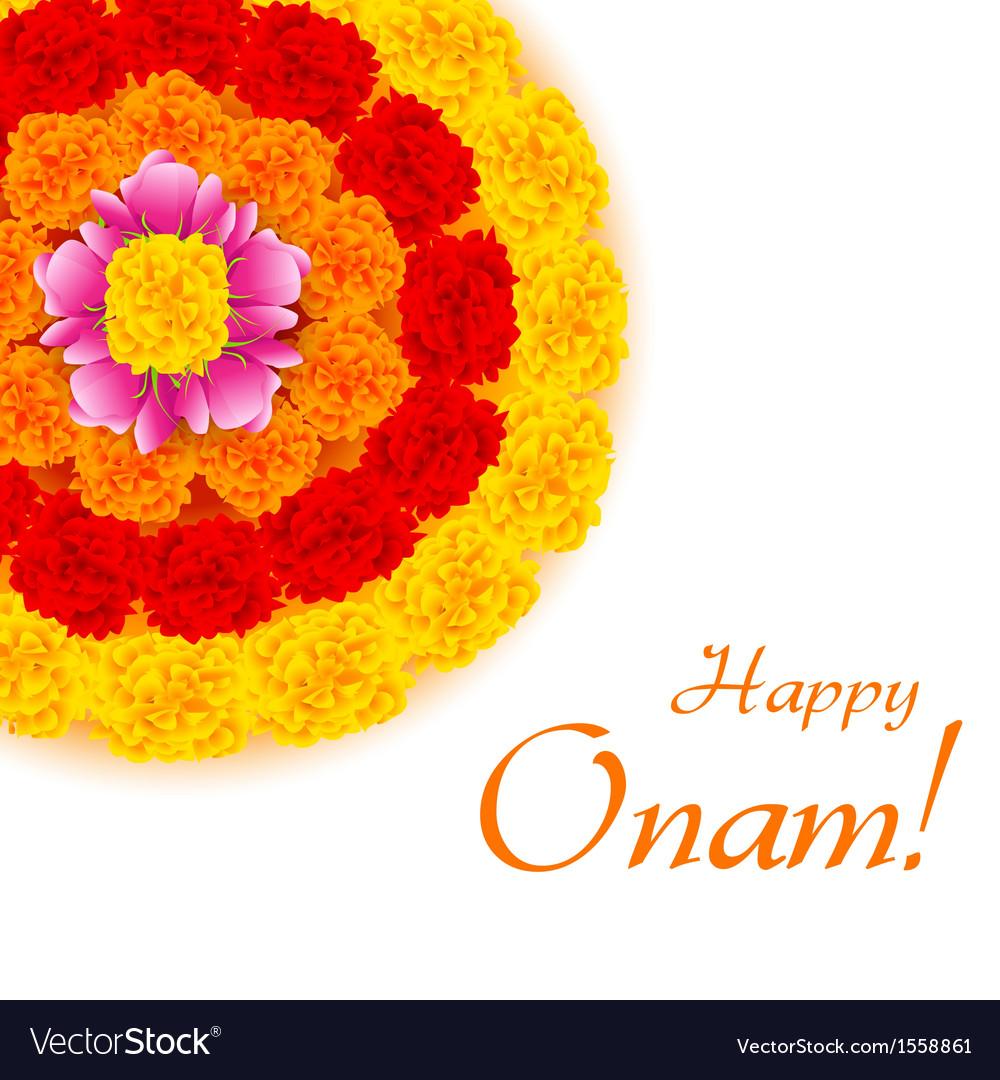 Flower Rangoli for Onam Royalty Free Vector Image for Flower Rangoli Vector  155sfw