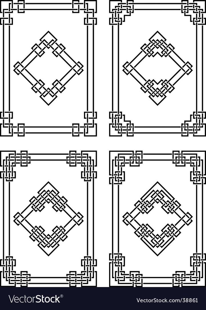 Geometrical borders vector image
