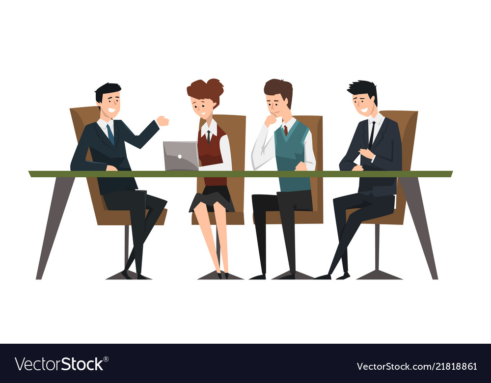 Group business people working in office men