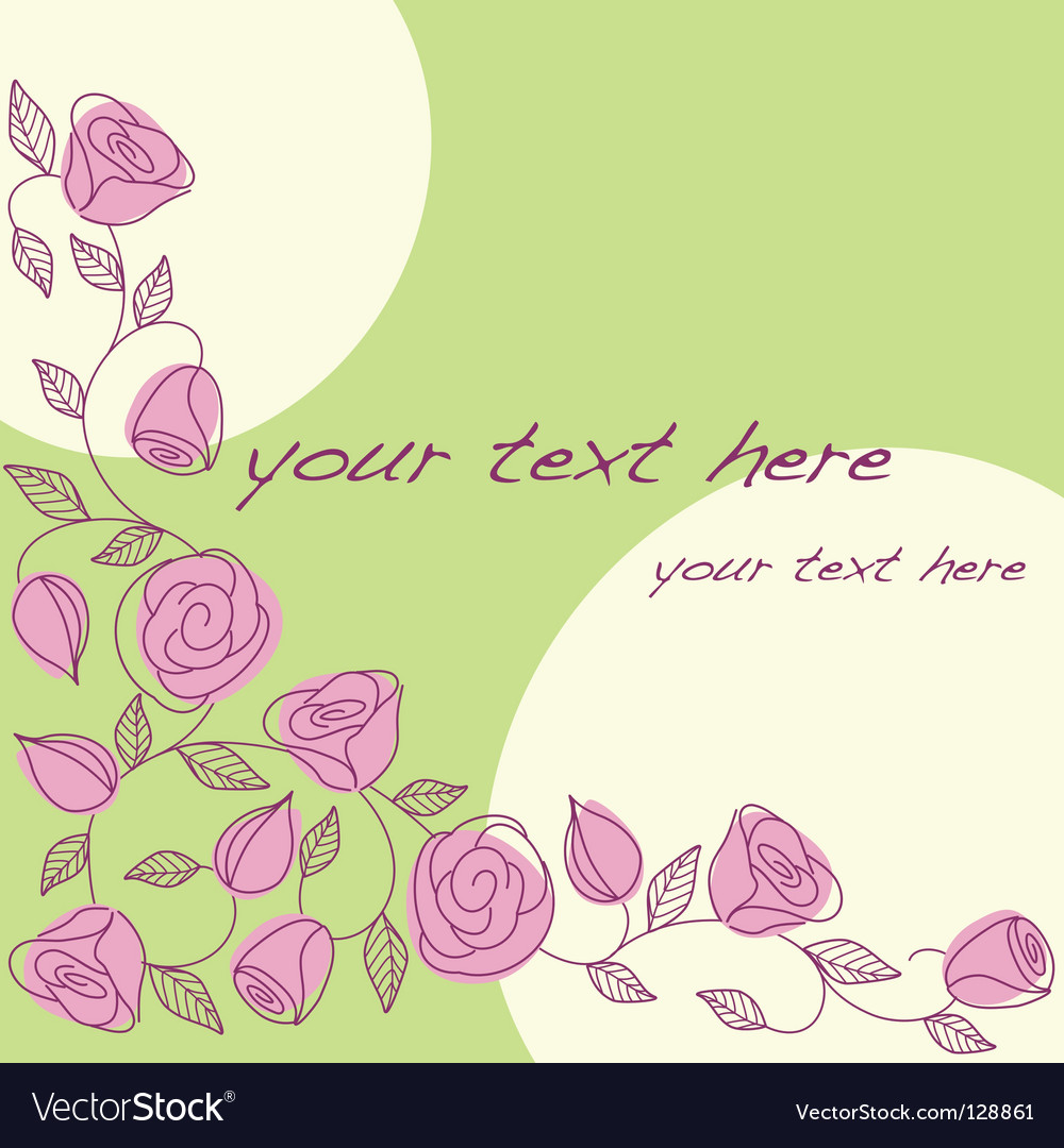 Hand drawn background with roses