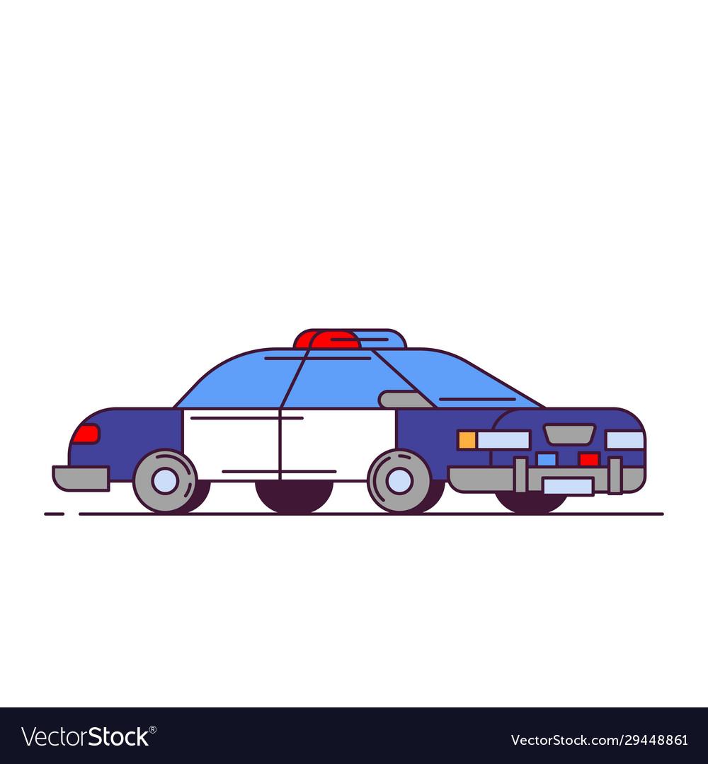 Police car line style