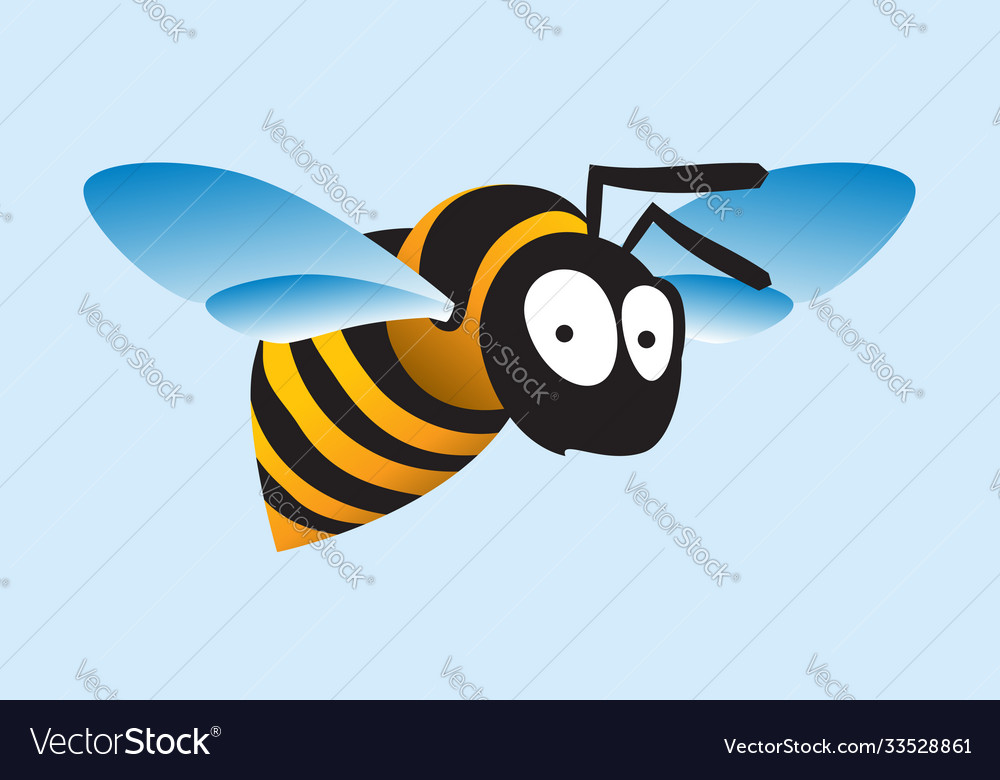 Stylized image a flying bee