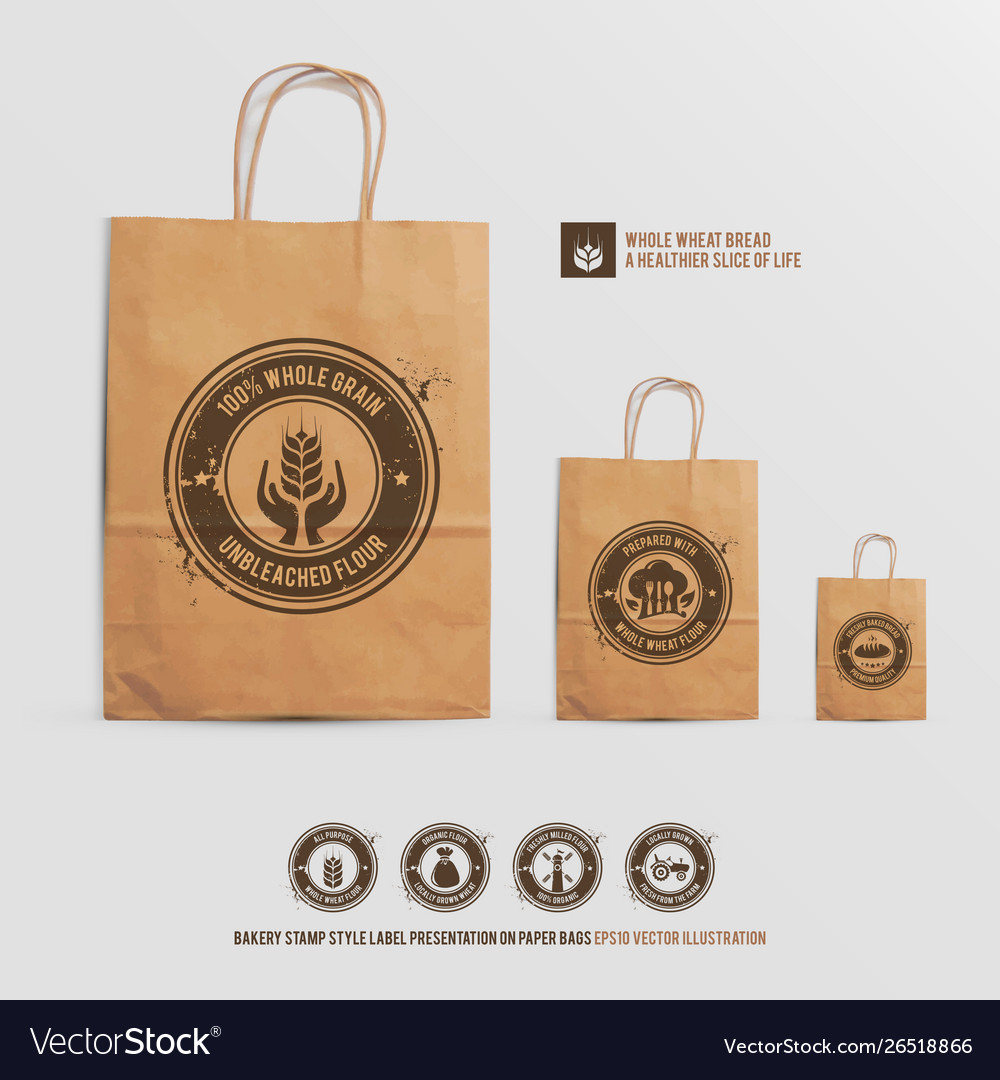 Paper Bags Royalty Free Vector