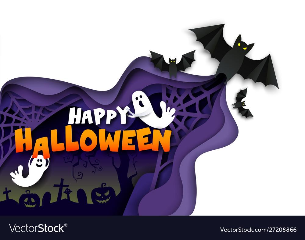 Happy halloween poster banner template