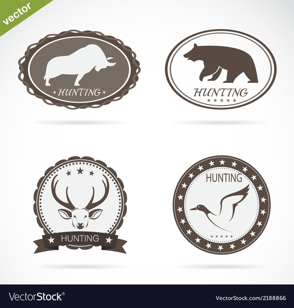 Hunting labels set