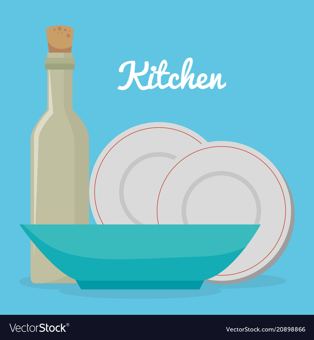 Kitchen utensils equipment icons Royalty Free Vector Image