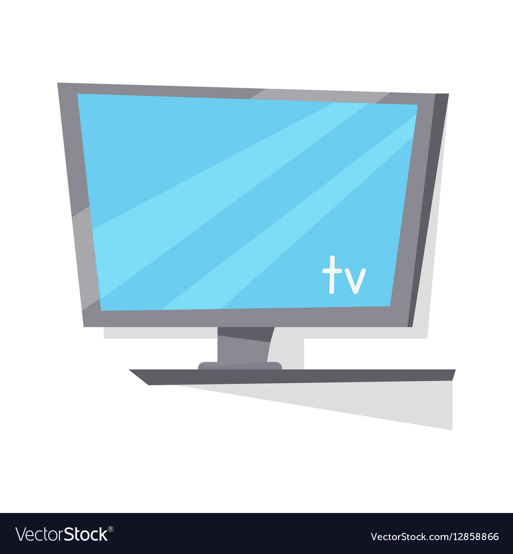 LCD TV Monitor with Blank Screen
