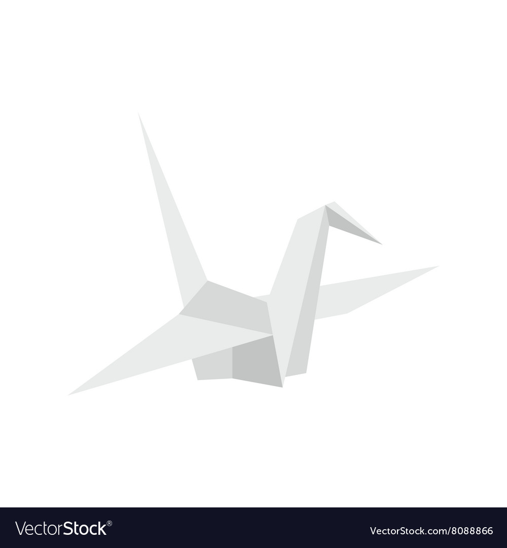 Paper dove icon flat style