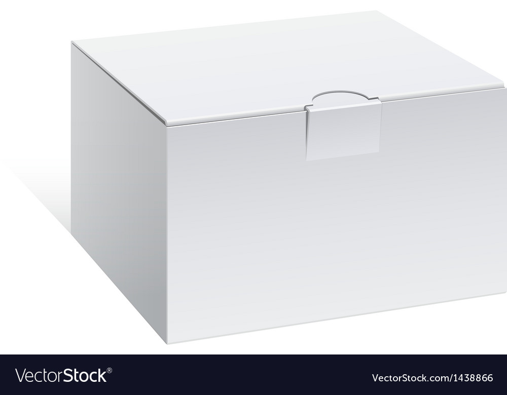 Realistic White Package Box For electronic device