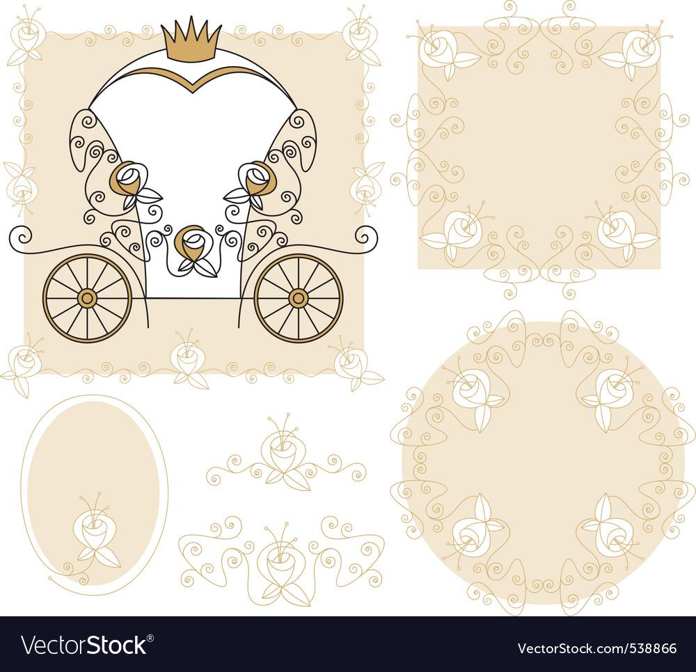 Set wedding decoration vector image