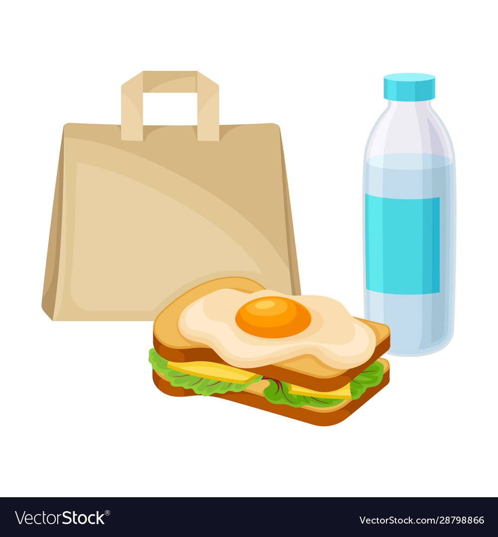 Snack For Lunch With Sandwich And Bottle Water Vector Image A wide variety of water sandwich options are available to you, such as paper type, project solution capability, and panel material. vectorstock