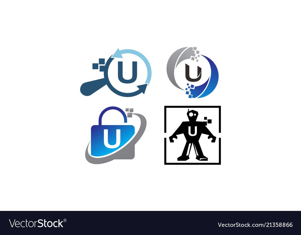 Technology application u template set