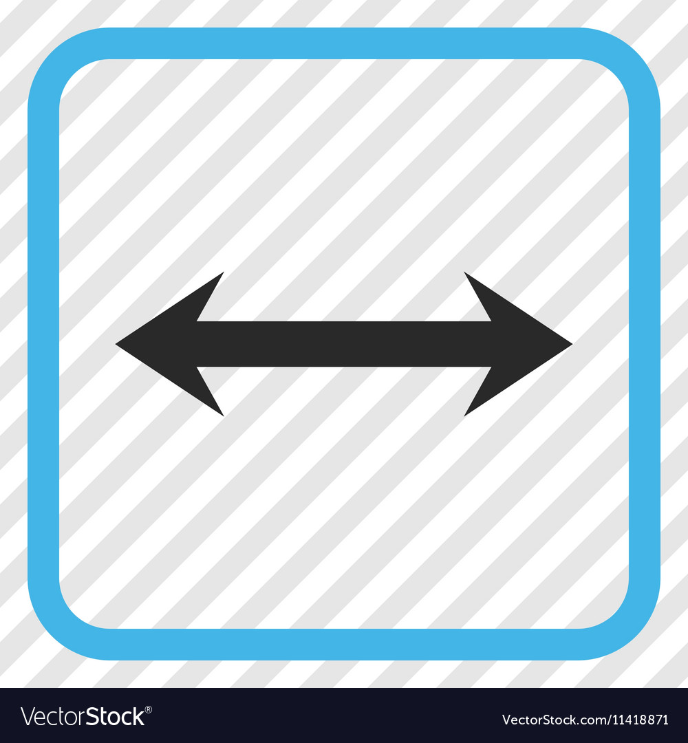 Horizontal Flip Icon In a Frame Royalty Free Vector Image