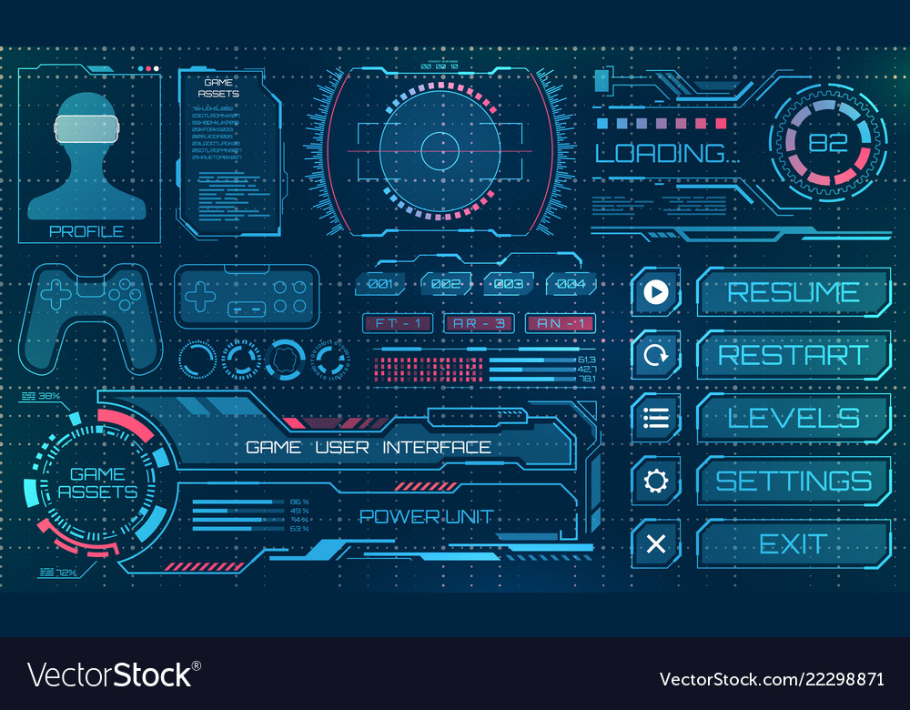 Hud user interface gui futuristic panel with